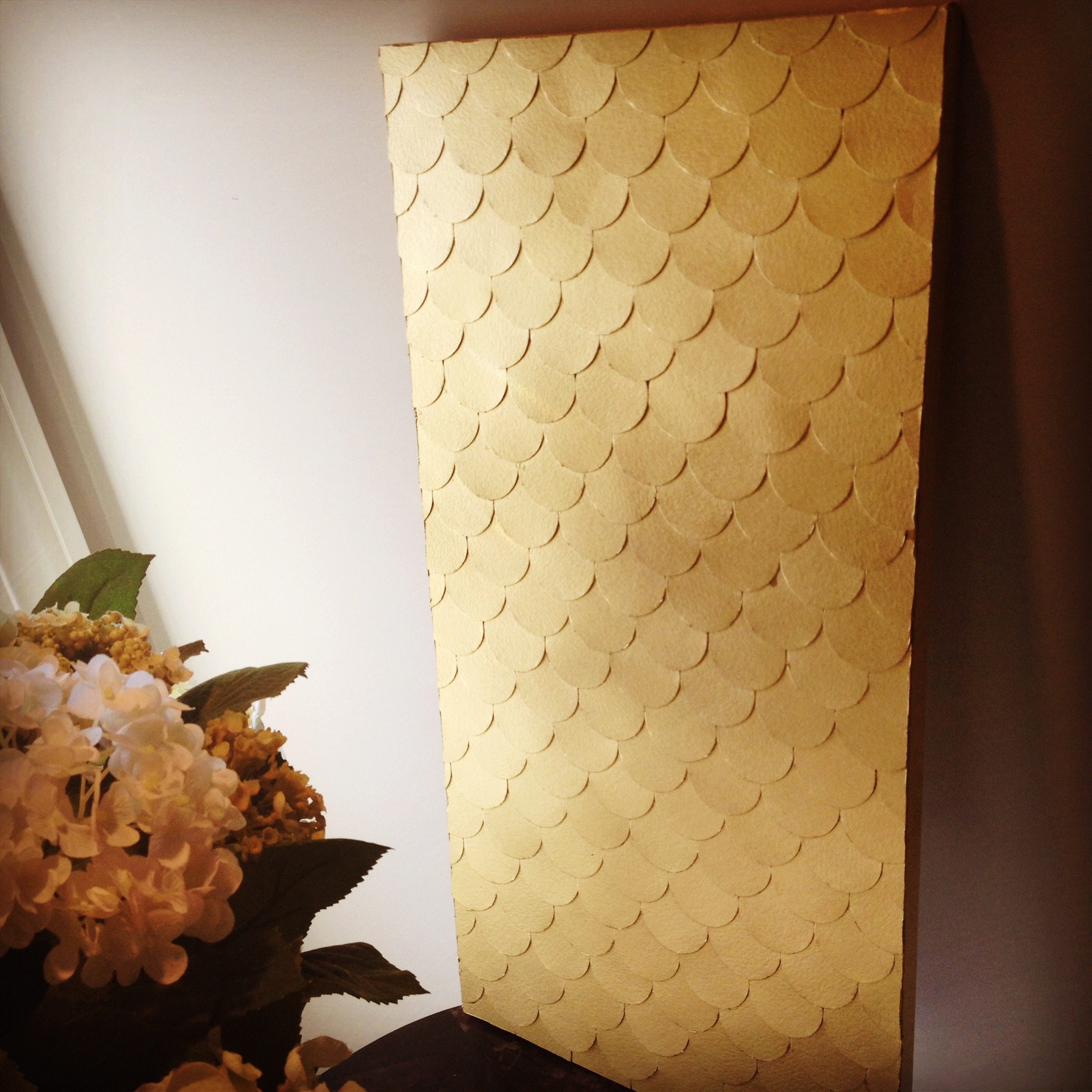 Fish Scale Wall Art Tutorial | The Subtle Statement