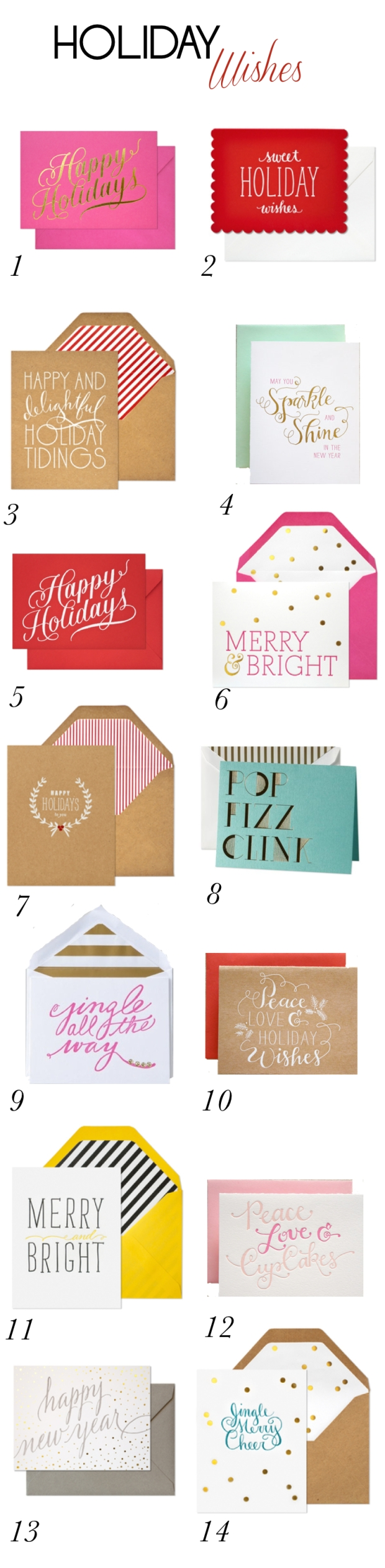 Holiday Wishes - Chic Holiday Cards