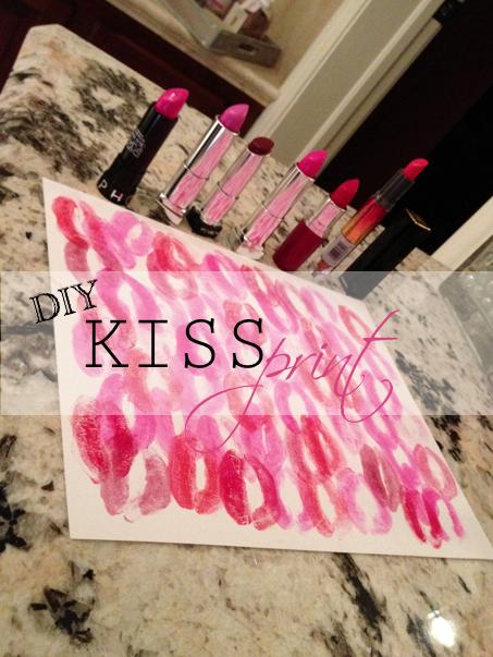 DIY Kiss Print