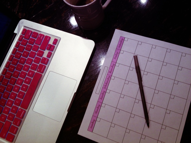 Monthly Blog Planner / Organizer - PDF Printable