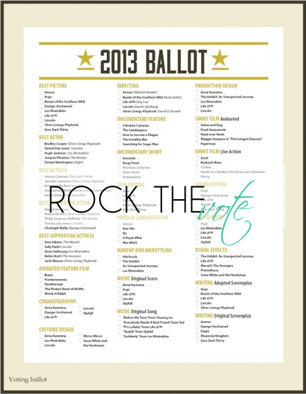 Rock The Vote #Oscar #party