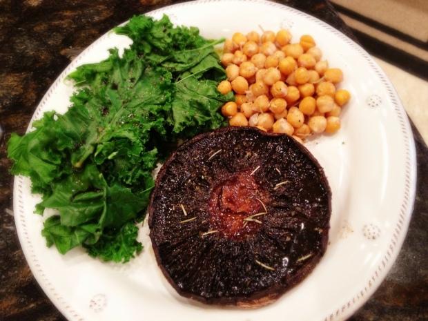 portobello, kale & chickpeas