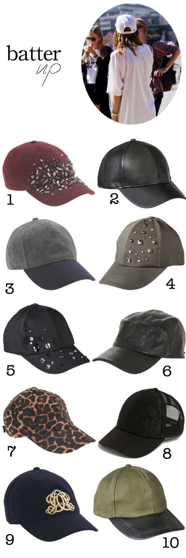 Batter Up - Baseball Cap Trend | TheSubtleStatement.com