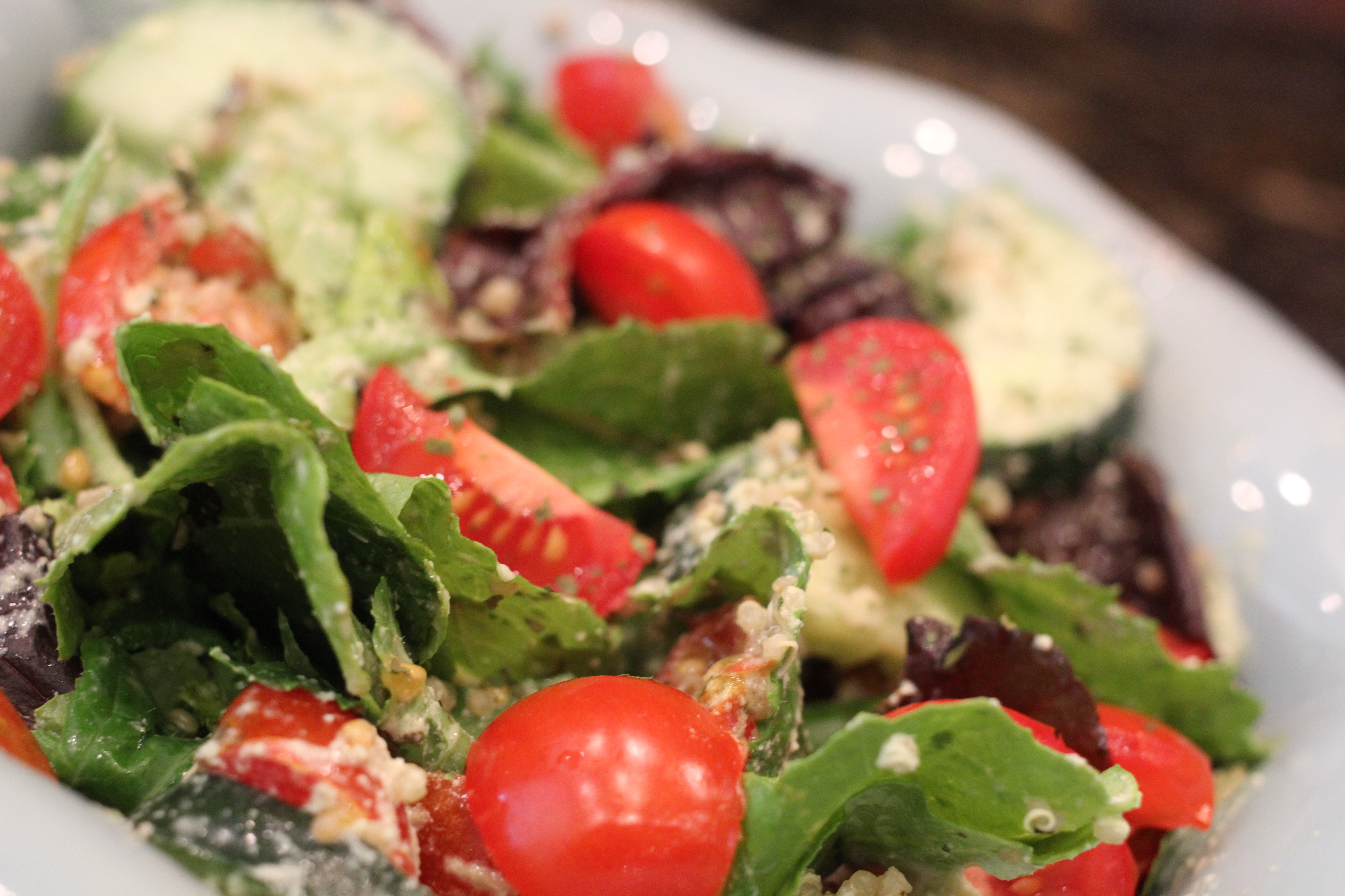 ... green salad quinoa taboulé salad quinoa tabbouleh with cherries