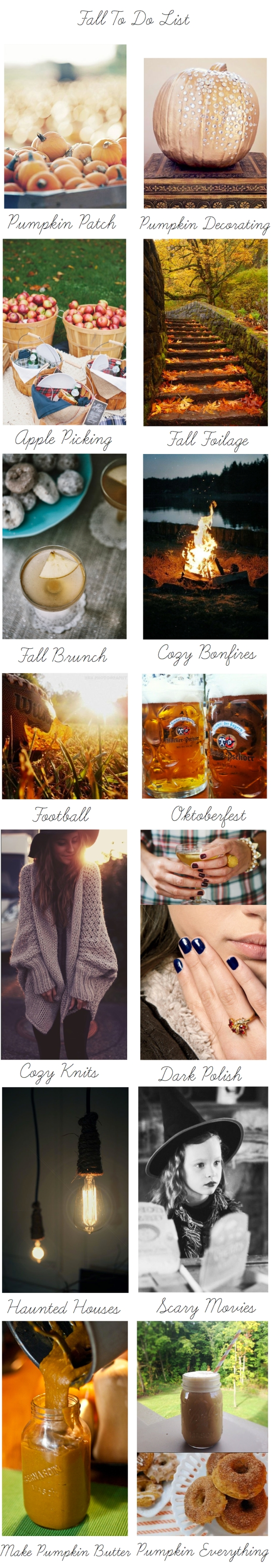 The Subtle Statement | Fall To Do List
