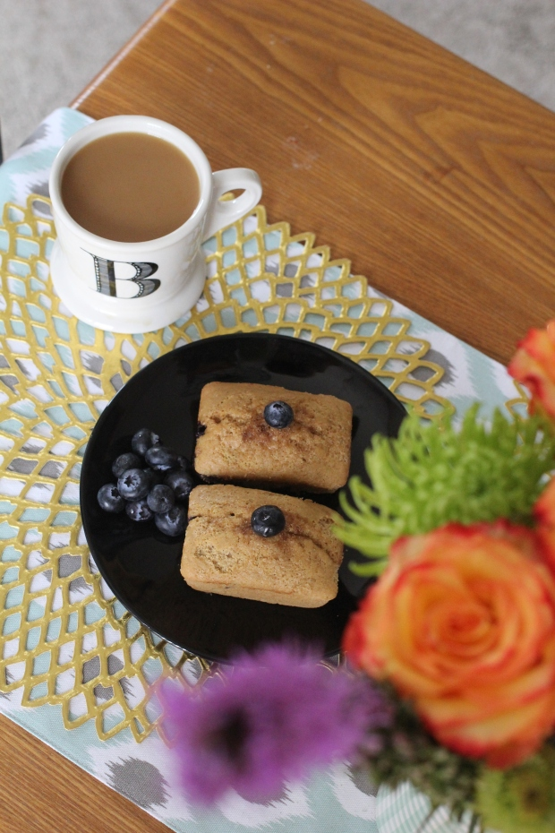 Gluten Free Vegan Blueberry Mini Loaves