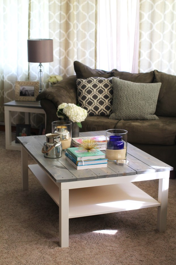 living room table decor weekend diy farmhouse coffee table the subtle statement 11949