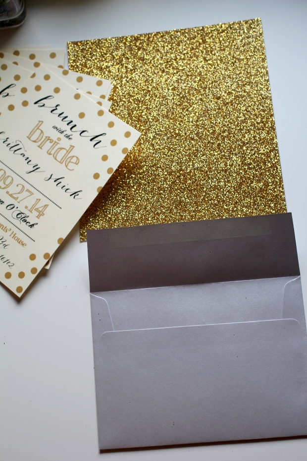 DIY - Glitter Envelope Liners | TheSubtleStatement.com