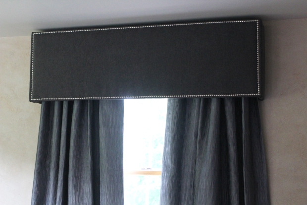 Tufted Cornice DIY - TheSubtleStatement.com #homedecor #diy