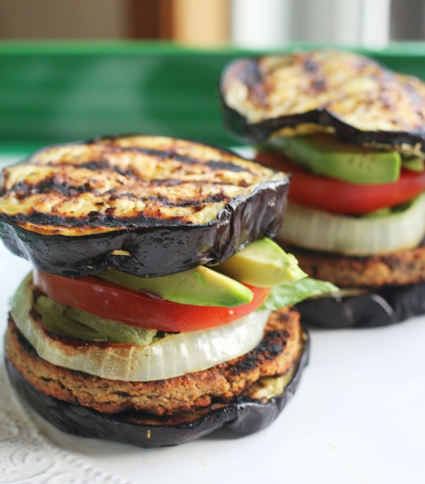Eggplant Bun Veggie Burgers | TheSubtleStatement.com | #21dayfix #vegan #glutenfree