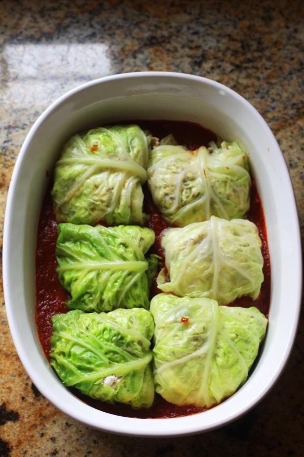 Vegan Ricotta Stuffed Cabbage | TheSubtleStatement.com | #21dayfix #vegan #glutenfree