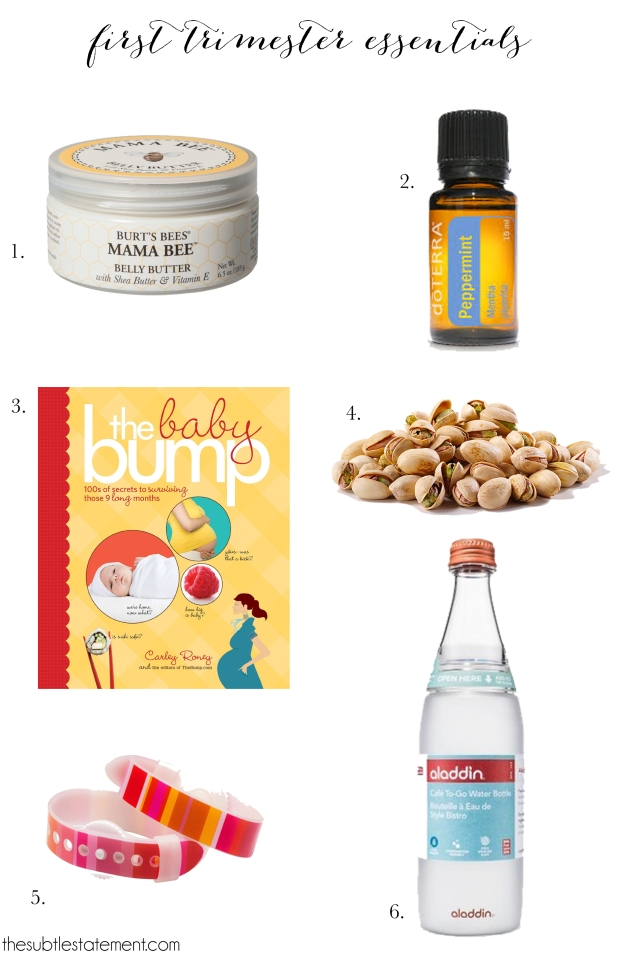 TheSubtleStatement.com | First Trimester Pregnancy Essentials